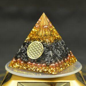 Pyramide Orgonite Protection Ondes Reiki