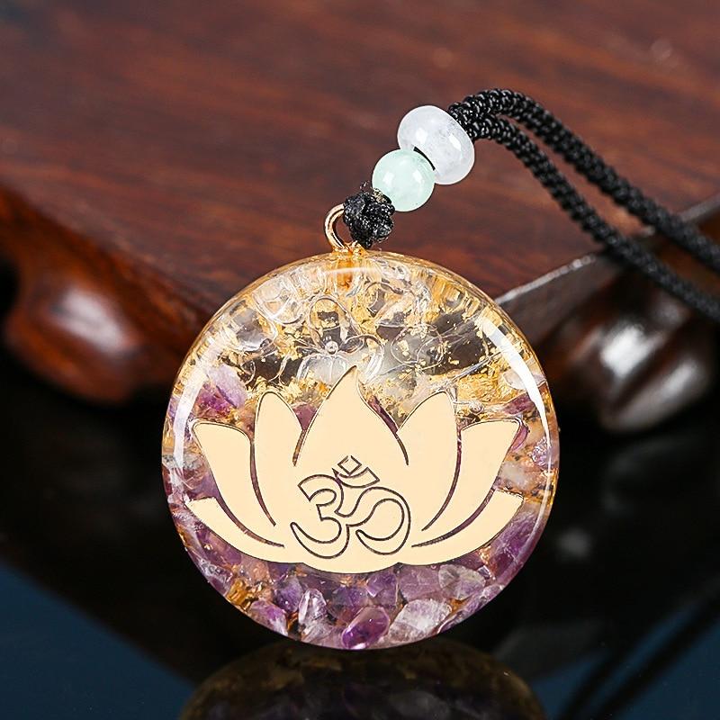 Pendentif Orgonite Lotus