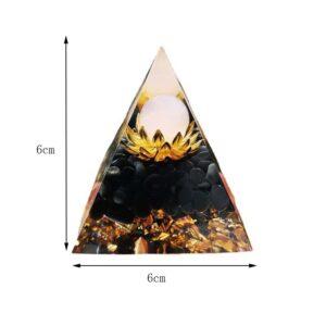 Pyramide Orgonite Lotus En Cristal