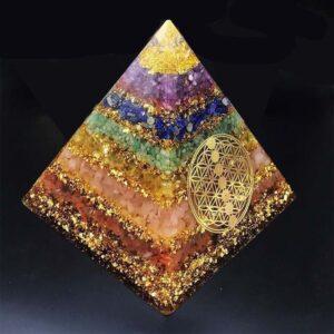 Pyramide Orgonite Nettoyage D'Aura